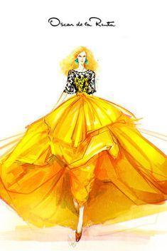 『那些大师们的手绘婚纱礼服服装设计图』@怪兽M