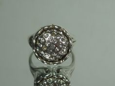 Sterling Silver Gemstone Ring .925 Marked W Size 7 #Unbranded #Signet