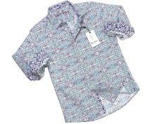 Boy's Sport Shirt 21300 White Print