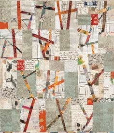 A quilt from an upcoming exhibit at The Art Quilt Gallery in New York.   (This quilt is by Sylvia Einstein.)