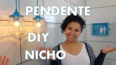 DIY | PENDENTE COM POTE DE VIDRO & NICHO DE GAVETA | E AÍ, VAMOS DECORAR?