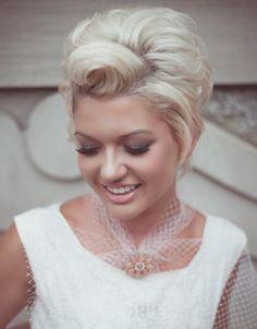 Bridal short hair @Ruth H. Emily what do you think?