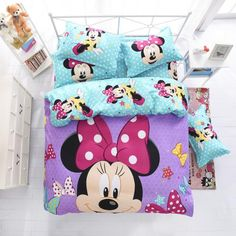 Disney Mickey or Minnie Mouse Bedding Set - Duvet Cover, Bed Sheet. Pillow Cases : Disney Mickey or Minnie Mouse Kids Bedding Set – Quilt or Duvet Cover Bed Sheet Pillow Cases