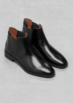 & Other Stories | Chelsea Leather Boots Size 38