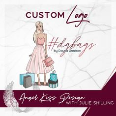 Shopping lady logo for by Dayna Greeson