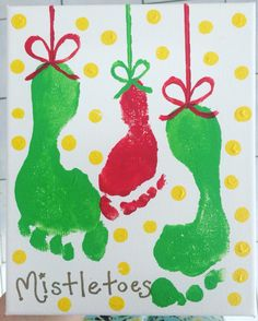 Mistletoes! Christmas craft with the kids