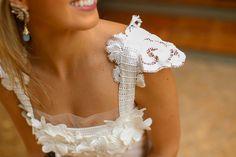 Marina Casemiro » Look do dia: vestido off + aplicações renda e flores!