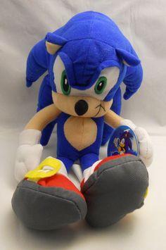 """Sega Sonic X The Hedgehog Plush Doll 12"""" Large Viz Media Toy Network Plush"""