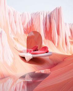 3d Fantasy, Fantasy Landscape, New Retro Wave, Retro Futurism, Photomontage, Pink Aesthetic, 3d Design, Architecture Art, Art Direction