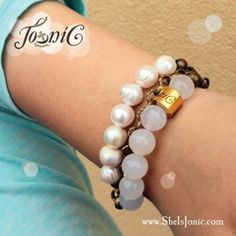 TRIO Nude Lee Collection:  Inspirational triple stranded bracelets with vintage metals, nude tone stones & freshwater pearls.  Shop now at www.sheisjonic.com