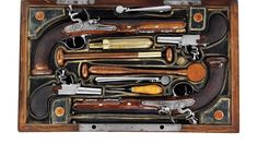 Fine and Important, Rare Garniture of Flintlock Pistols by Nicholas Noel Boutet, also from the H.H. Thomas Collection carried a presale estimate of $70,000-100,000 and sold for $132,250.
