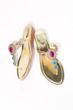 Glitzy Sandals - Vince Camuto - Ilina Wedge Flip Flop Sandal