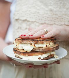 Grilled Ricotta and Chive Sandwiches
