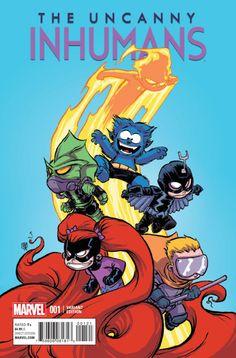 Marvel - Uncanny Inhumans #1 Skottie Young Baby Variant Cover