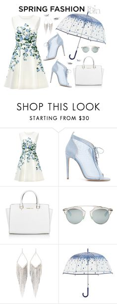 """""""Sweet Spring Dress"""" by ana3blue ❤ liked on Polyvore featuring ERIN Erin Fetherston, Chloe Gosselin, Michael Kors, Christian Dior, Jules Smith and Vera Bradley"""