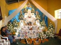 Day of the Dead altar in Huaquechula, Puebla, Mexico