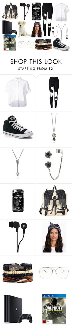 """""""Hanging out with Luke"""" by lillie1221 ❤ liked on Polyvore featuring Alice + Olivia, WithChic, Converse, Bling Jewelry, Mr. Gugu & Miss Go and Skullcandy"""
