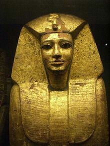 Sarcophagus of Pharoah Sekhemre-Wepmaat Intef. Reign c.1573?-1571 B.C. Dynasty XVll of Egypt. •Museo de Louvre•