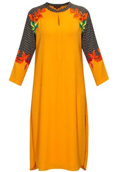 Mango yellow embroidered tunic only at Pernia's Pop-Up Shop.