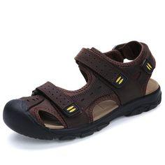 ef838903c22a18 Men s Sandals Summer High Quality Brand Shoes Beach Men Sandals Men Causal  Shoes Super Fiber Fashion Outdoor Waterproof Sandals