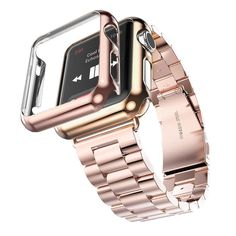 3 Points Stainless Steel Protective Case and Band for Apple Watch available in 38/42 mm