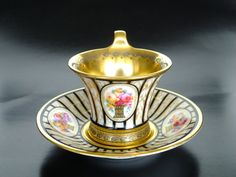 Porcelain cup and saucer set by Thomas, Bavaria, Germany 1908-1939