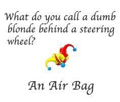 Joke Adult pun blonde
