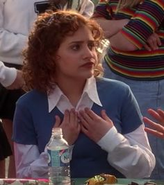 """The good old button-up under a t-shirt. Wins every time. 