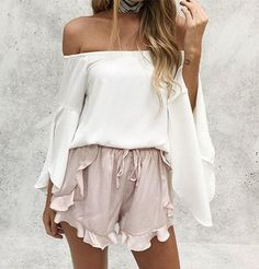 High Waist Ruffle Shorts