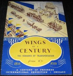 icollect247.com Online Vintage Antiques and Collectables - Wings of a Century Romance of Transportation 1833-1933 Magaz