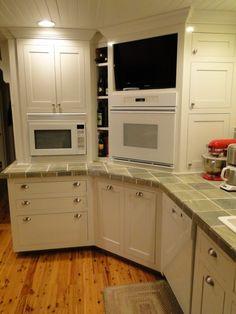 Ideas For Kitchen Corner Kitchen Corner Cabinets On Custom Kitchen Corner Cabinet With 1930s