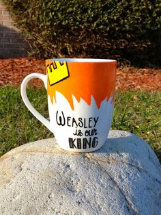 $15.00 !!! Harry Potter Inspired Coffee Mug. Weasley is Our King.