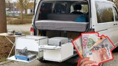 Camping Kocher, California Beach Camping, Diy Camping, Baby Strollers, Van, Camper Ideas, Hex Key, Rv, Viajes