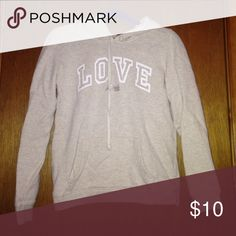 American eagle sweatshirt American eagle sweatshirt that says love American Eagle Outfitters Tops Sweatshirts & Hoodies