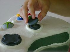 How to Create an Xbox Cake — Z as in Zebra Teen Boy Cakes, Cakes For Boys, White Buttercream, Buttercream Filling, Xbox One Cake, Fall Cakes, Cupcake Cakes, Cupcakes, Cake Decorating Tips