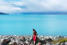 Crystal clear turquoise waters // Boon and Sherilyn's Engagement in Untouched New Zealand