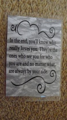 Laminated Wallet Size Inspirational Quote/Message Keepsake Cards -  Who Really Love You on Etsy, £2.50
