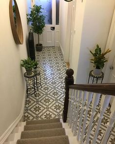 Montpelier Square Wall & Floor Tiles – Tons of Tiles – hallway Hall Tiles, Tiled Hallway, Entry Hallway, 1930s Hallway, Stairs And Hallway Ideas, Entry Way Tile, Cottage Hallway, Tile Entryway, Tiled Staircase
