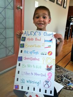 UPDATE: Go check out Alex's NEW CHARTS ! :) Items needed: 2 Poster Board, Markers, Velcro, Scissors, Stickers or fun clipped p...