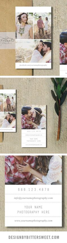 Wedding photography business card. Business card template. Photographer business cards.