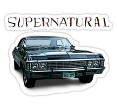 Sam and Dean's Chevy Impala from Supernatural • Also buy this artwork on stickers, apparel, phone cases, and more.