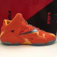Name : Nike Lebron 11 Forging Iron Size (US) : 13.5 Condition : Used | Great Condition | With OG box Style Code : 626376 800 Year : 2014