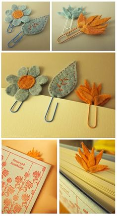 felt bookmarks... Would require some prep, but we could do somethin like this!
