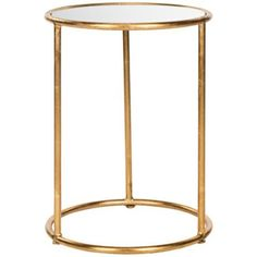 Olivia Mirrored Gold Accent Table