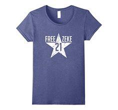 af4d5d60c2d Blue Womens Free Zeke Football Tshirt for Fans of the Dallas Cowboys   CowboysNation Follow on Twitter