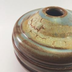 Handmade Stoneware Pottery Orb Vase  Light by TheOakLeafPotter