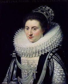 Ernestine Yolande, Pricess of Ligne, ca. 1620 (Jan Antonisz. van Ravesteyn) (1572-1657)   Mauritshuis den Haag, Inv. 120
