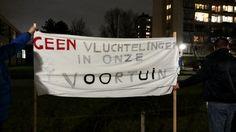 Bewoners Passtoorsstraat Schiedam protesteren tegen vluchtelingen