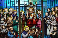 Depicts Jesus on His Throne in Heaven  | Orbis Catholicus Secundus: New Stained Glass Windows in Canada