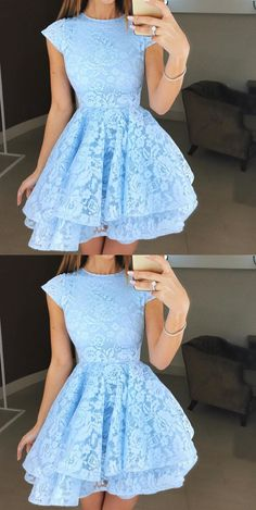 Boho Prom Dresses, Round Neck Cap Sleeves Short Lace Prom Dresses, Round Neck Short Cap Sleeves Lace Formal Homecoming Graduation Dresses, you be the star of your own prom by offering you hundreds of options for your perfect 2020 prom dress! Tight Prom Dresses, Pretty Prom Dresses, Simple Prom Dress, Hoco Dresses, Plus Size Prom Dresses, Classy Dress, Simple Dresses, Elegant Dresses, Wedding Dresses